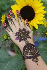 Arabic-Mehndi-Design-sunflower